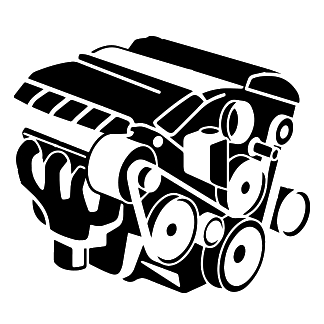 Forklift Engine Icon